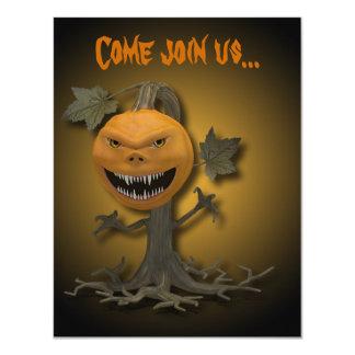 Carte Arbre déplaisant de citrouille de Halloween -