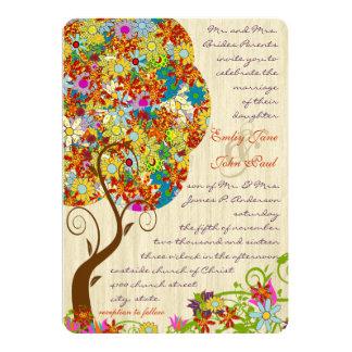 Carte Arbre floral enchanté de conte de fées de