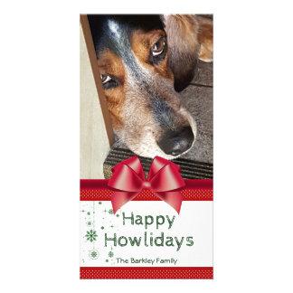 Carte Arc rouge heureux de Howlidays de photo de Noël de