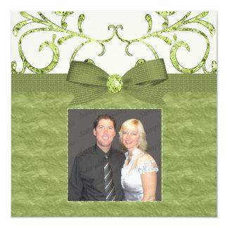 Carte Arc vert de remous de pastel et de diamant et