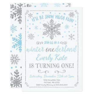 Carte Argent de bleu d'invitation d'anniversaire