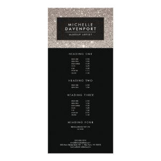 Carte argentée classique de support de maquilleur