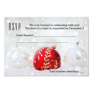 Carte argentée de scintillement des vacances RSVP Carton D'invitation 8,89 Cm X 12,70 Cm
