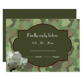 Carte Armée RSVP l'épousant orienté