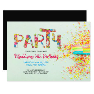 Carte Arrosez l'invitation de fête d'anniversaire