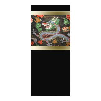 Carte Art coloré lumineux asiatique de dragon de |