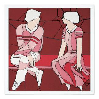 Carte Art de mosaïque des couples dans la conversation