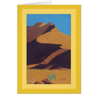 Carte : Art dunaire de désert en pastel/arrière