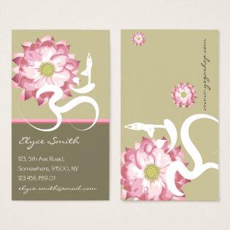Carte asiatique de profil de Lotus de fleur de