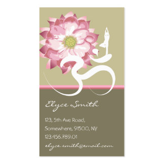Carte asiatique de profil de Lotus de fleur de yog