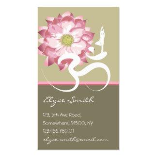 Carte asiatique de profil de Lotus de fleur de yog Cartes De Visite Personnelles
