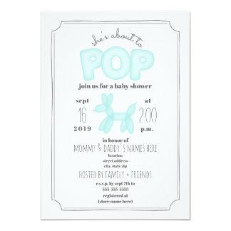 Carte Au sujet de pour sauter le baby shower bleu