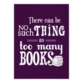 Carte Aucune une telle chose comme trop de livres