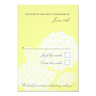 Carte audacieuse de l'hortensia RSVP Carton D'invitation 8,89 Cm X 12,70 Cm