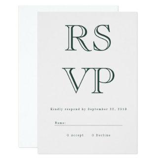 Carte audacieuse vintage de RSVP