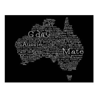 Carte australienne d'argot