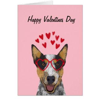Carte australienne de valentines de chien de