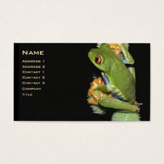 Carte aux yeux rouges de profil de grenouille