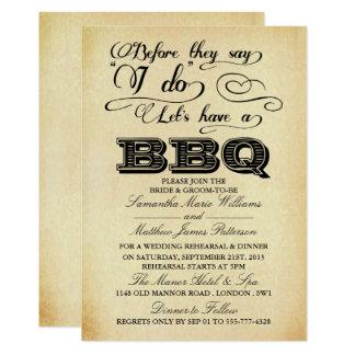 Carte Avant qu'ils disent que je fais Lets ayez un BBQ !
