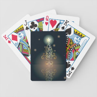 Carte avec l'arbre de Noël décoratif 3 Cartes À Jouer