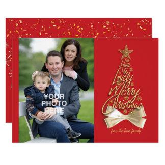 Carte Ayez un beau Joyeux Noël