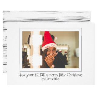 Carte Ayez votre Selfie un Joyeux petit Noël