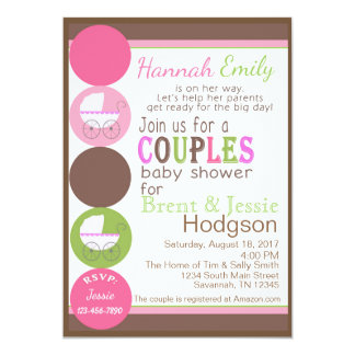 Carte Baby shower de couples