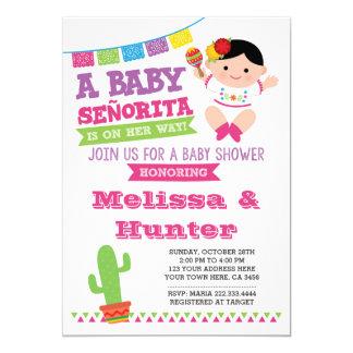 Carte Baby shower de fiesta, Senorita Invite de bébé