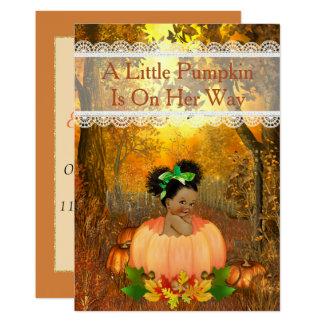 Carte Baby shower de Halloween d'Afro-américain