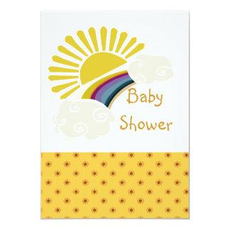 Carte Baby shower de soleil et de nuages