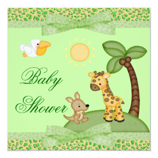 Carte Baby shower d'impression de guépard d'animaux de