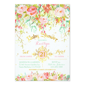 Carte Baby shower enchanté par étincelle de jardin
