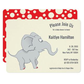 Carte Baby shower mignon de l'éléphant | pour honorer la