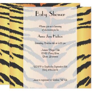 Carte Baby shower - poster de animal, rayures de tigre -