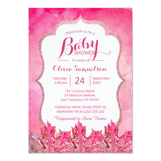 Carte Baby shower unique de feuille d'érable d'aquarelle