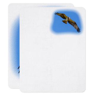 Carte Balbuzard de vol avec une cible en vue