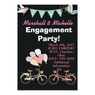 Carte Ballon d'invitation de partie de fiançailles de