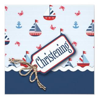 Carte Baptême nautique de voilier
