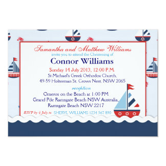 Carte Baptême nautique de voiliers