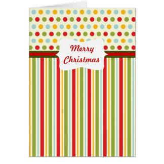 Carte bariolée de ~ de Noël