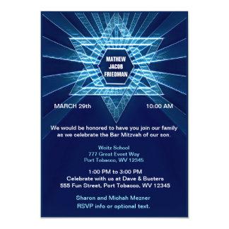 Carte Barre bleue électrique Mitzvah