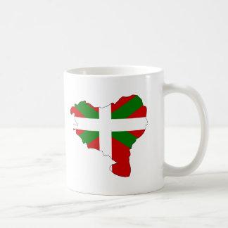 Carte Basque de drapeau Mug Blanc