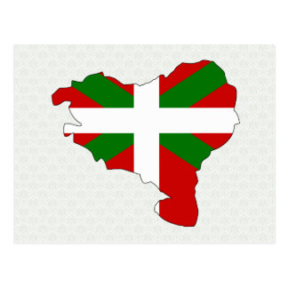 Carte Basque de drapeau normale Carte Postale