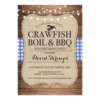Carte BBQ d'ébullition d'écrevisses tout homard de fête