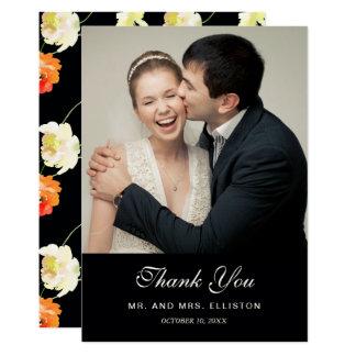Carte Beau floral noir - mariage