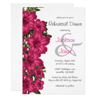 Carte Beaux lis de roses indien - dîner de répétition