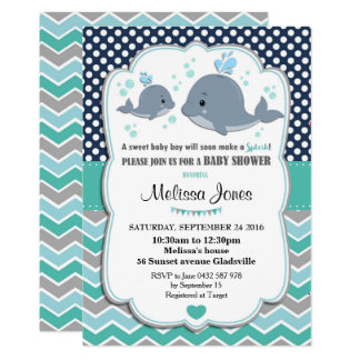 Carte Bébé d'invitation personnalisé par baby shower de