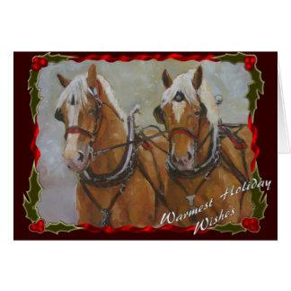 Carte belge de vacances d'équipe de cheval de