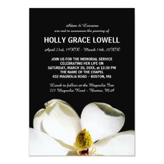 Carte Belle cérémonie commémorative de magnolia
