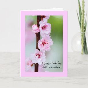 Cartes Rose Pour La Belle Soeur D Anniversaire Zazzle Fr